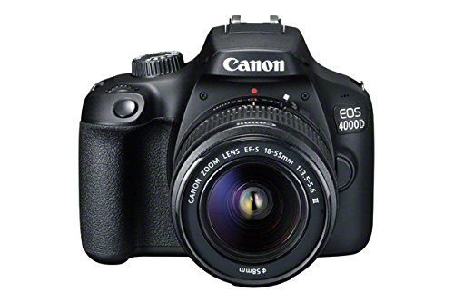 Canon EOS 4000D DSLR Camera and EF-S 18-55 mm f/3.5-5.6 III Lens - Black GB